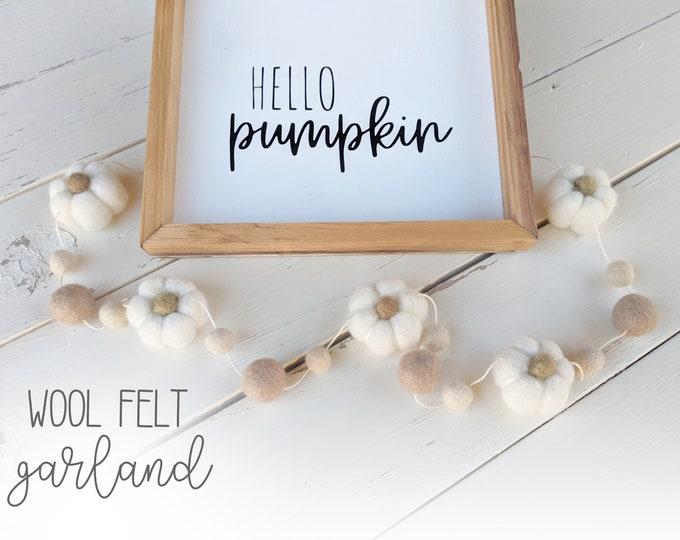 Fall Pumpkin Garland : Fall Farmhouse Garland