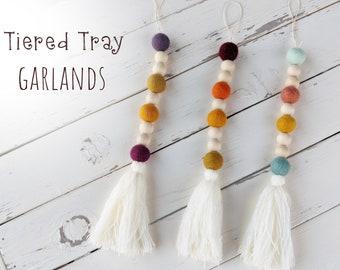 Tiered Tray Garland : Wool Felt Garland for Fall