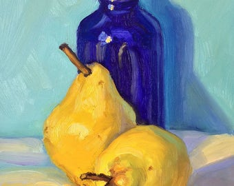 Original Colorful Still Life Oil Painting