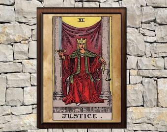 Justice tarot | Etsy