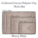 Cushioned Pottery Work Mat, Canvas Pottery Work Mat, Heavy Duty Work Mat, Ceramic Work Mat, Hand Building Pottery, Pottery Tools,