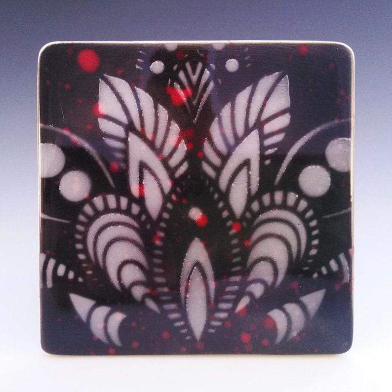 Native American Pottery by Raymond Ventura Home Decor Chumash Art Colorful Pottery Paisley Tile Hand Painted Tile Bathroom