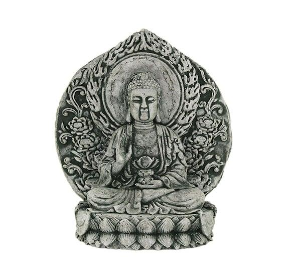 Statue Meditating Sitting Buddha Concrete Asian Statues Etsy