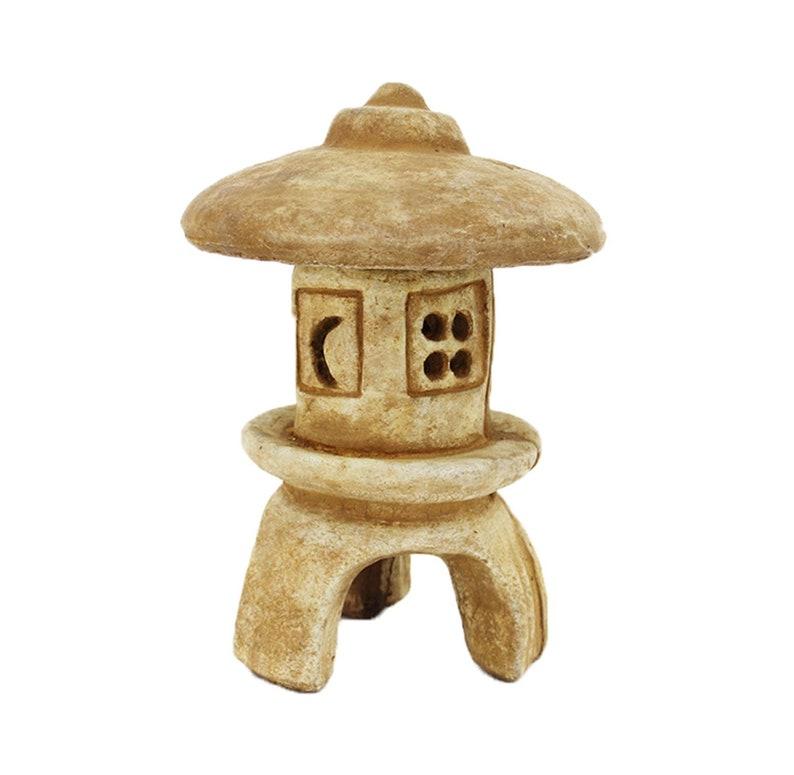 Yukimi Pagoda Carved Cast Stone Lantern Japanese Pagoda Cement Chinese  Lantern Asian Sculpture Figure
