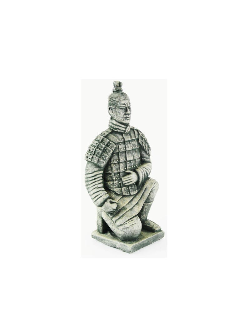 Chinese Warrior Concrete Asian Garden Statue Cement Figurine Cast Stone  Sculpture Figure