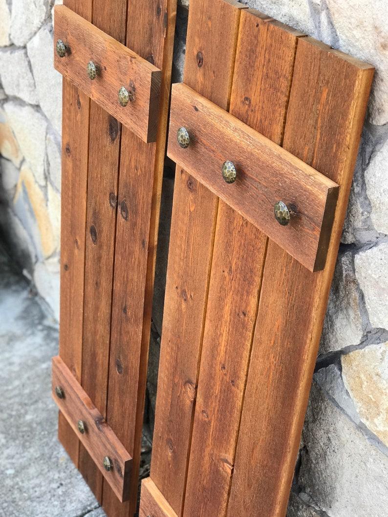 Wood Cedar Shutters, Exterior Shutters, Board And Batten Shutters, Rustic  Shutters, Wooden Shutters, CUSTOM SIZES