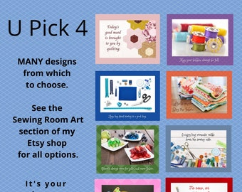 Sewing Room Art, Quilt Humor, Gift for Quilters, Quilt Room Decor, Craft Room Art, Sewing Room Sign, Quilt Quips, Quilt Poster Art