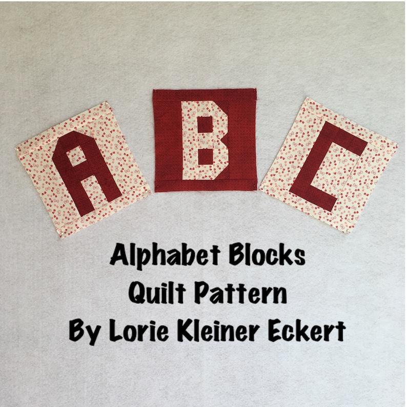 Alphabet Blocks Quilt Pattern Instant Download Quilt image 0