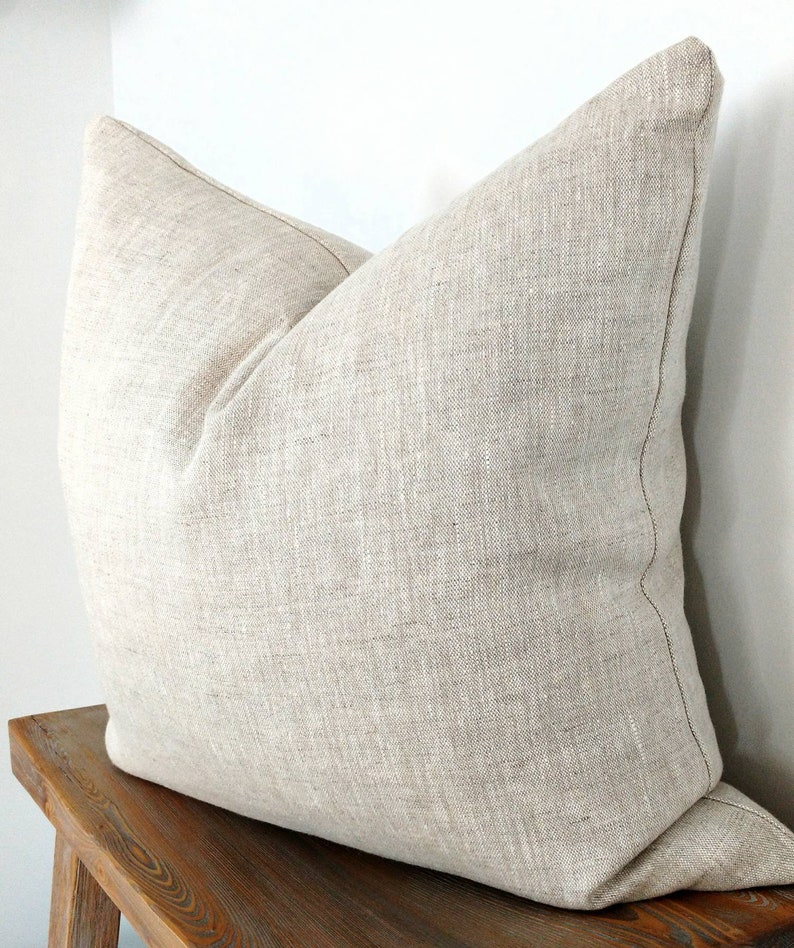 oatmeal linen pillow cover