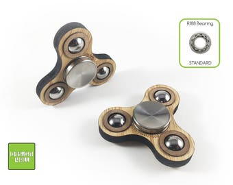 Bamboo Fidget Spinner Classic w/double action
