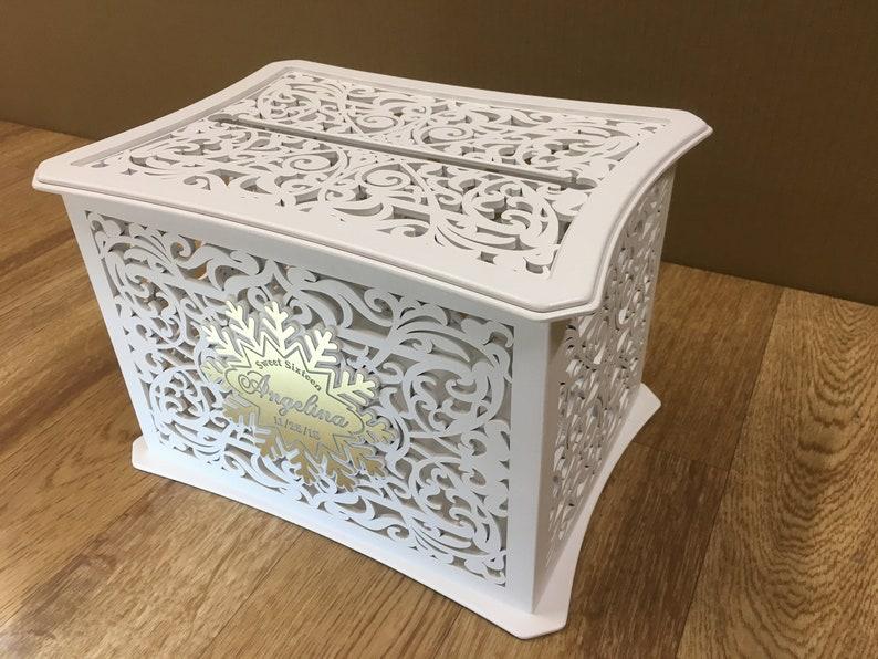 quinceañera card box memory box sweet 15 money box sweet