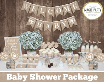 Baby Shower Ideas Gender Neutral neutral baby shower | etsy