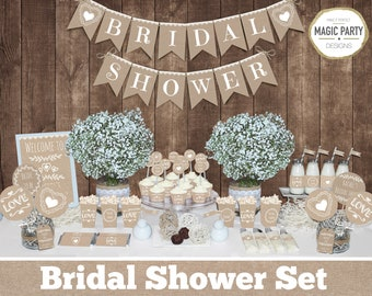3afff181698 Rustic bridal shower decorations