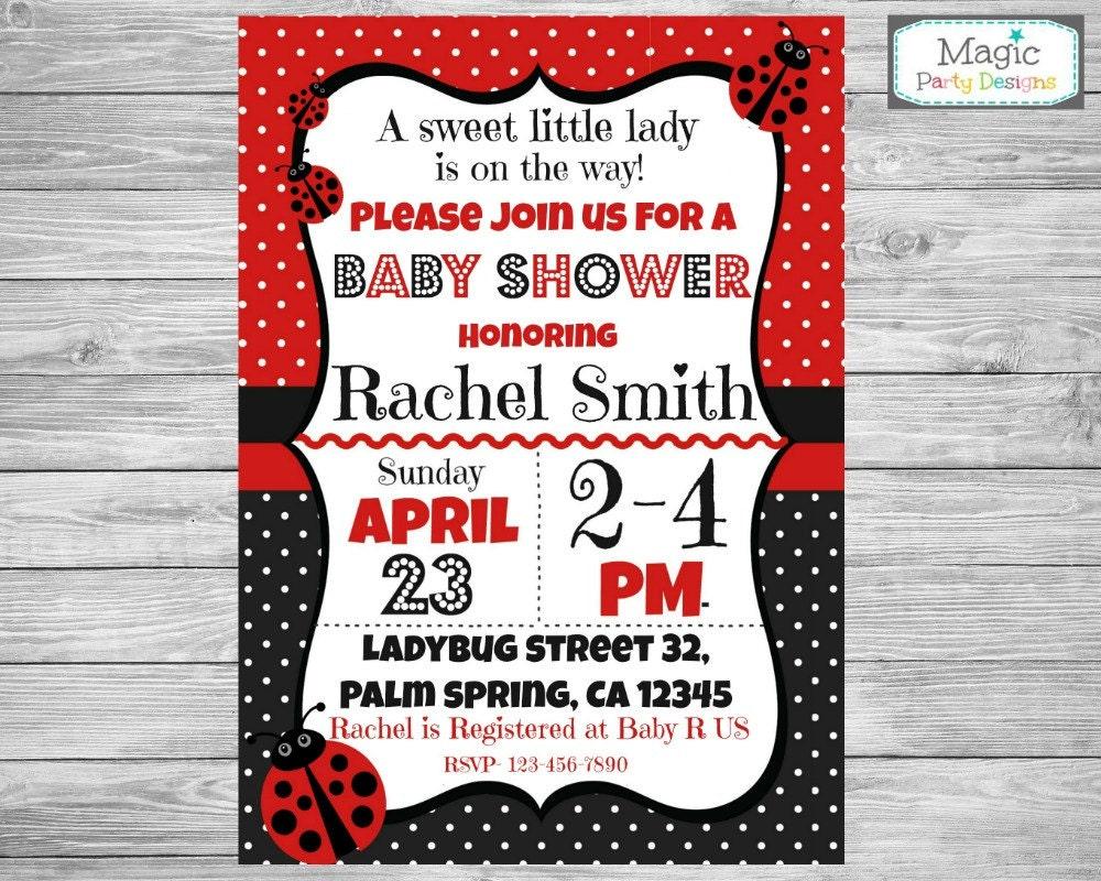 Invitación de ducha baby Ladybug mariquita bebé ducha | Etsy