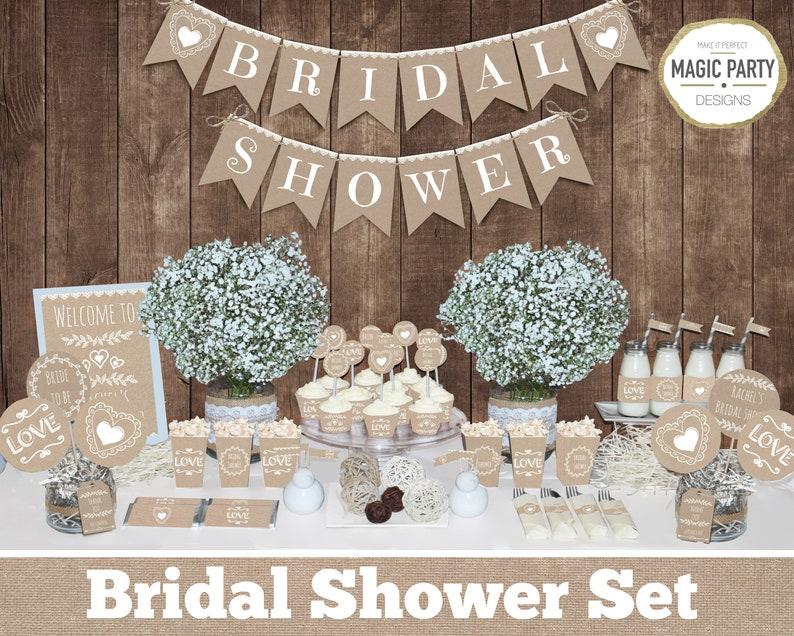 Rustic Bridal Shower Decorations Bachelorette Party Etsy