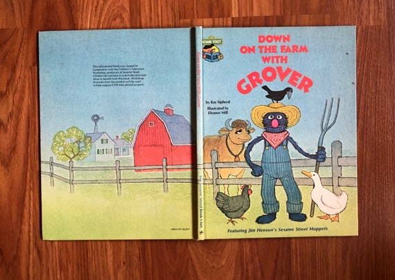 Down On The Farm With Grover A Sesame Street Book Club Edition 1980 Hb