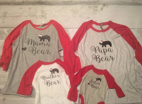 ed166ba41815 Family Bear christmas shirts Christmas pajamas family
