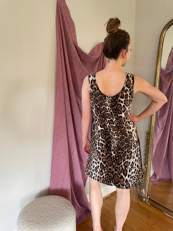 Cheetah stretchy swing dress - image 2