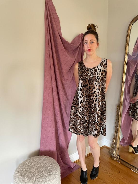 Cheetah stretchy swing dress - image 3