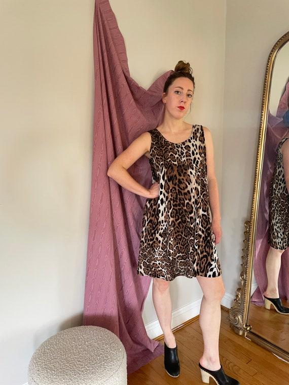 Cheetah stretchy swing dress - image 1