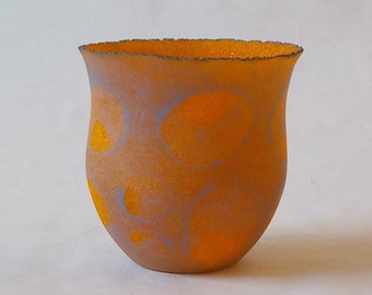 g20-157 Pate de verre (glass) vessel