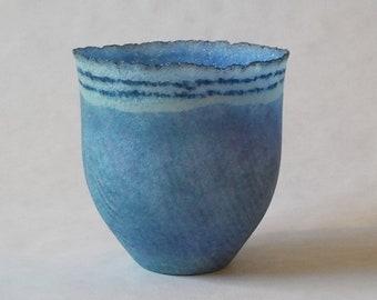 2nds Sale! g2g21-094 Pate de verre (glass) vessel