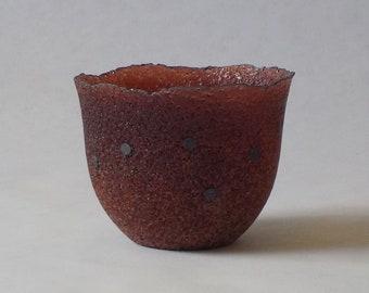 g19-040 pate de verre (glass) vessel