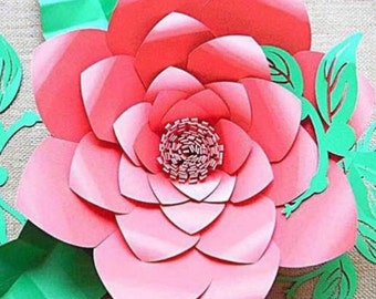 Large Flower SVG Files, Giant DIY Paper Flowers, Floral SVG Cutting Files - Large Backdrop Flowers, Paper Flowers