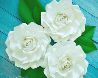 Small Paper Rose Flower Templates & Tutorial, Wedding Paper Roses, Easy Paper Flowers, Printable PDF Templates, SVG Cut Files