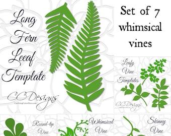 large paper leaf templates tropical leaf svg cut files large etsy