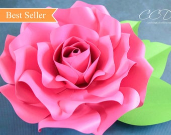 Paper roses etsy paper roses paper flower svg giant paper roses large paper flowers flower templates svg cut files rose templates catching colorflies mightylinksfo