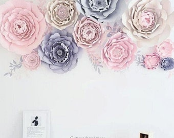 Giant Paper Peony Templates, Peony Paper Flowers, Paper Flower SVG to use with Cricut or Silhouette, Instant Download