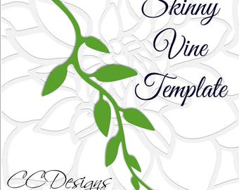 leaf vine templates printable vine template leaf vine svg etsy