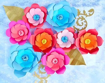 Diy large paper flower templates svg cut files giant paper flowers diy giant paper flower svg cut files diy large backdrop flowers pdf templates svg cutting files diy wedding decor mightylinksfo