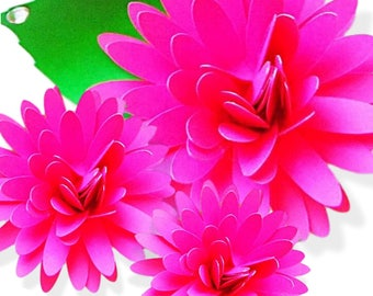 Paper Flowers How To Make Paper Flowers Flower Templates Etsy
