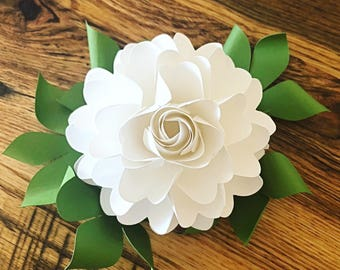 Large Paper Rose Template Giant Paper Flower Printable Etsy