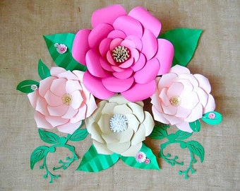 Diy giant paper flower printable templates flower template etsy paper flower templates diy giant paper flowers diy flower templates paper craft tutorial paper flower svg files large flowers mightylinksfo