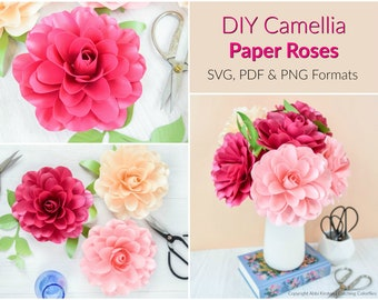 Small & Large Paper Flower Templates: SVG & by
