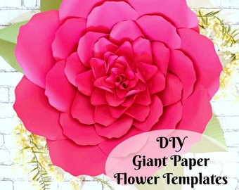 Large paper flowers printable giant paper flowers paper etsy large paper flowers giant paper flowers templates tutorials printable templates svg cut files diy mightylinksfo