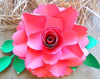 Svg paper flower cutting files diy paper flower templates etsy diy paper roses rose flower templates svg files diy large paper flower templates wedding decor paper flower tutorial templates mightylinksfo