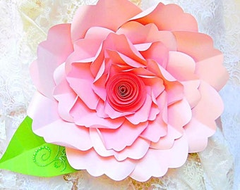 Svg paper flower cutting files diy paper flower templates etsy diy large paper flower tutorial with templates rosette paper flower backdrop giant flowers svg cut files large paper flowers mightylinksfo