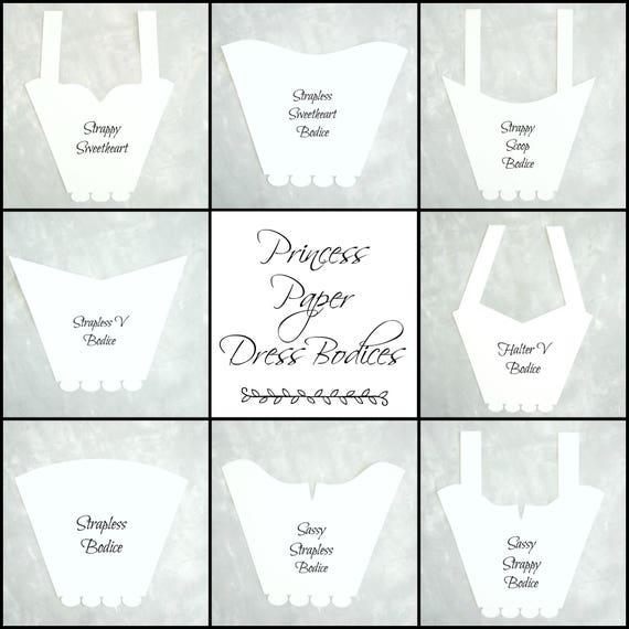 diy paper dress bodice templates princess party decor paper etsy