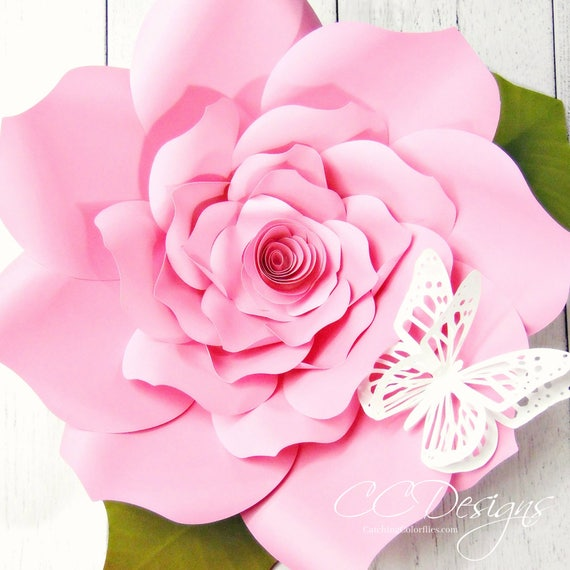 Diy large paper flowers paper roses backdrop paper flowers etsy image 0 mightylinksfo