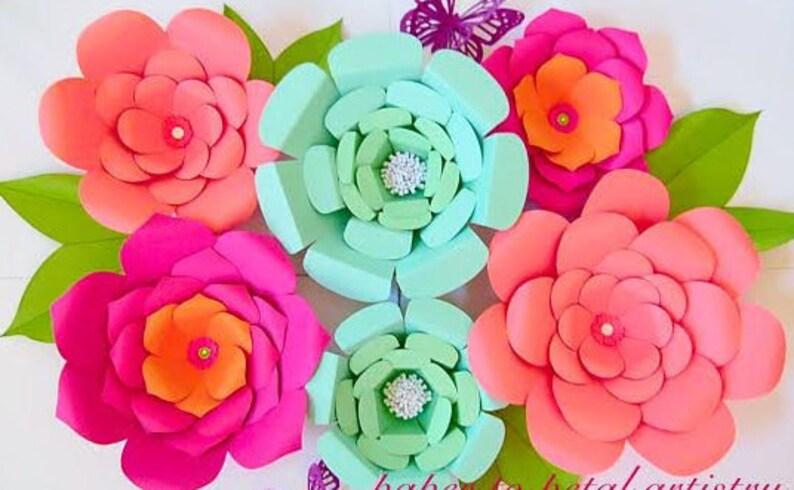 Giant Paper Flowers Diy Templates Patterns Tutorial Paper Flower Kit Giant Paper Flower Templates Backdrop Flowers