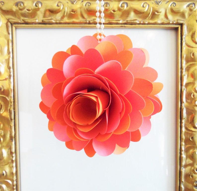 DIY Hanging Pomander Flower Ball Paper flower kissing ...