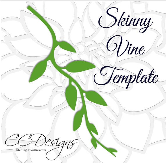 vine svg cut file svg files leaf and vine templates paper flower