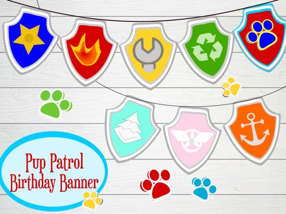 graphic regarding Printable Birthday Banner Template identified as Puppy dog Patrol Birthday Bash Banner- Printable Birthday banner