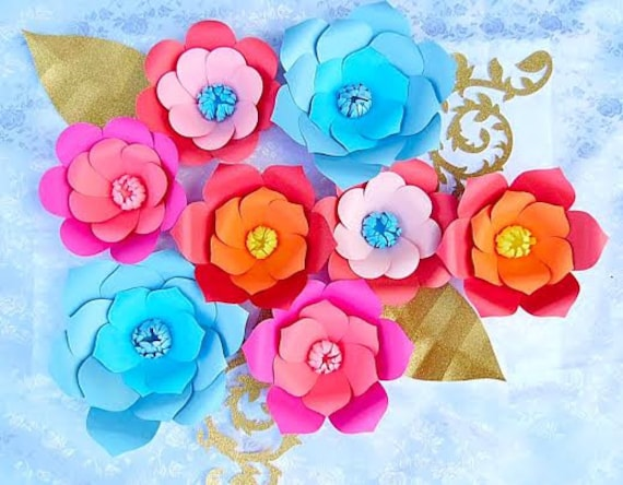 Diy Giant Paper Flower Svg Cut Files Diy Large Backdrop Flowers