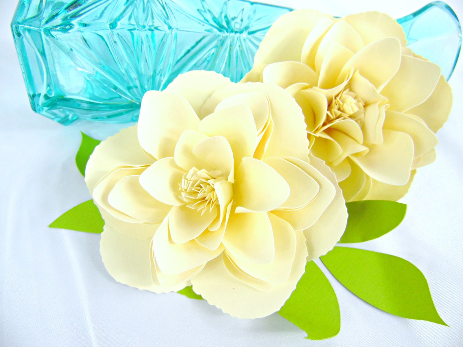 Peony Paper Flower Templates Diy Small Paper Flowers Svg Etsy