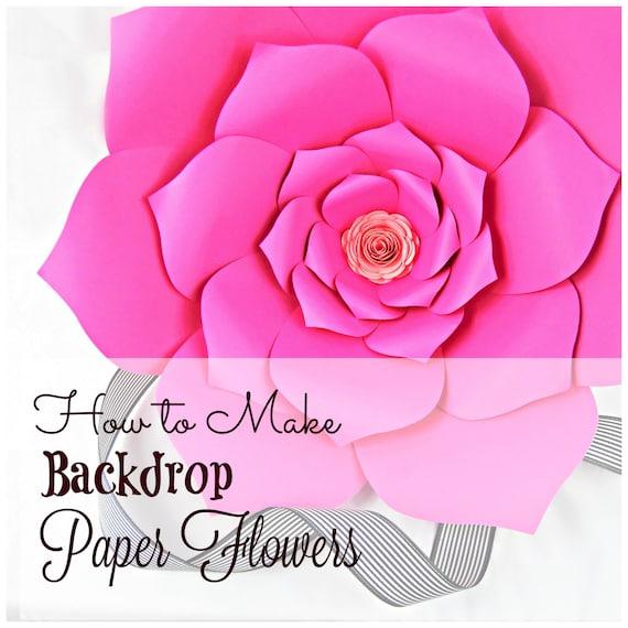 Fleurs En Papier Geantes Modele Modeles Tutoriels Fleurs Etsy